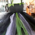 Black, Green and Lime Halloween Tulle Tutu child 5 to 7