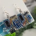Chipped Computer - Small Square Hook Dangle earrings