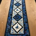 Australiana table runner (extra long) - BLUE WREN