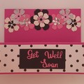 Greeting Card - 'Chain of Flowers - Get Well Soon