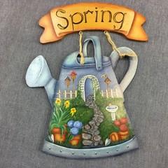 Spring welcome garden decoration
