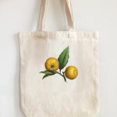 Vintage Design Eco Tote Bag Lemons