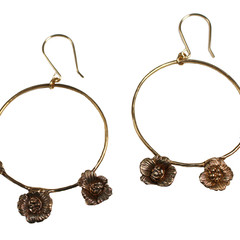 Poppy Blue Hoop Earrings