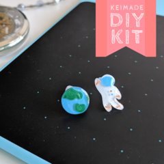 Make your own Astronaut & Earth Earrings - DIY Craft Kit & How to video