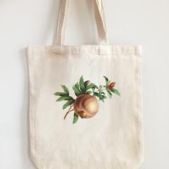Vintage Design Eco Tote Bag Pomegranate