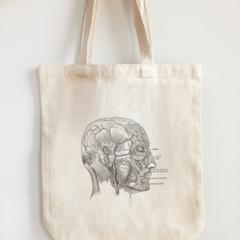 Vintage Design Eco Tote Bag Anatomy Head