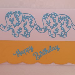 Greeting Card - 'Baby Elephant Walk'