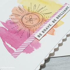 Be Brilliant Handmade Card
