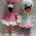 Ballerina Swan: READY TO POST, Crochet Toy,  Girl Gift