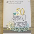 50 Golden Wedding Anniversary Card - free postage