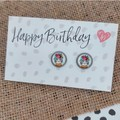 Glass dome stud earrings  Cat