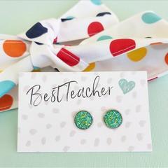 Gift set - Earrings and hair tie