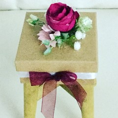 Decorated  Faux Flower Small Gift Box
