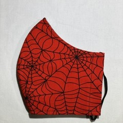 Face Mask - Large - Spider web red