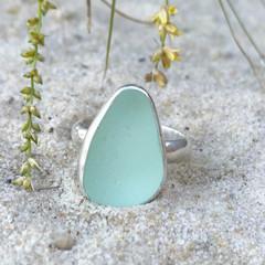 Seafoam Shores Sea Glass Ring