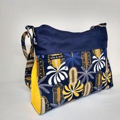 Navy Banksia Handbag