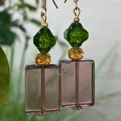 Summery & light glass & lucite earrings.