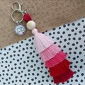 Courage dear heart   - Tassel keyring/bag tag