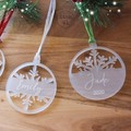 Personalised Christmas Tree Ornaments - Pine