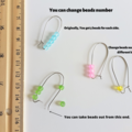 Sea glass style matte glass bead line hoop earrings , More colour on this list