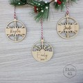 Personalised Christmas Tree Ornaments - Frosted Acrylic