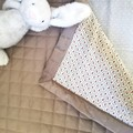 Baby Coverlet/Play Mat/Baby Cot Quilt/Nursery Bed in Vintage Floral Print