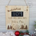Personalised Christmas Countdown Board - More options available