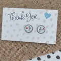 Glass dome stud earrings Boy and girl with heart balloons