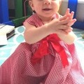 Red gingham dress Girl baby toddler size 3 months - 6 years