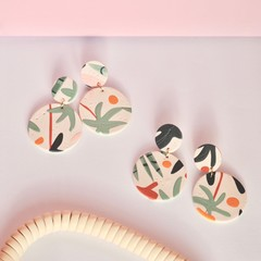 Staycation Botanical Clay Earrings