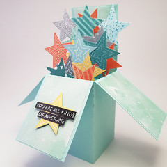 You Are All Kinds of Awesome, Friendship Card, 3D Card