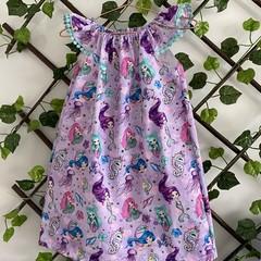 Seaside Ruffle Dress, Size 3, Lace Sleeve Dress, Mermaids
