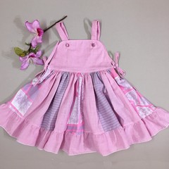 American Dream Toddler Dress Pink/violet Gingham Sizes 3 and 4 available