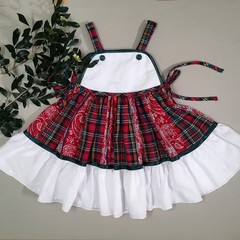 American Dream Toddler Dress Tartan red and white Christmas dress Size 3