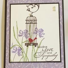 Sympathy Handmade Card - Sending Love and Sympathy