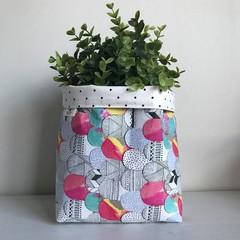 Large fabric planter | Storage basket | MOUNTAINS