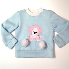 Koala sweat for little girls available in sizes 3 and 4 only