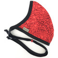 Red Doughty Sling Back Face Mask