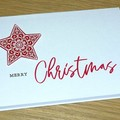 Merry Christmas card - star - red or gold