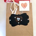 Decorated faux flower Gift Bag