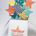 Happy Birthday, Stars Birthday Card, 3D Birthday Card