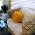 Velvet Sun Crocheted Cushion