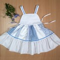 American Dream Toddler Dress Blue and white Size 3