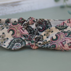 Paisley top knot / girls headband / free post