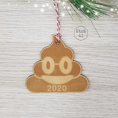 Christmas Tree Ornament -  Poop 2020