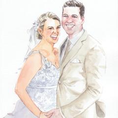 Custom Wedding Portrait Watercolour, Original Art