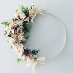 Bridal Faux Floral Hoop