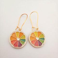 Citrus / fruit charm gold dangle earrings