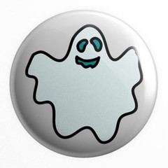 Halloween set of 4 x 25 mm badges or magnets