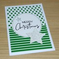 Christmas Card - 2 styles - green and white